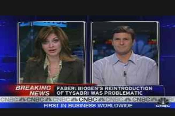 Faber: Biogen's Tysabri Problematic