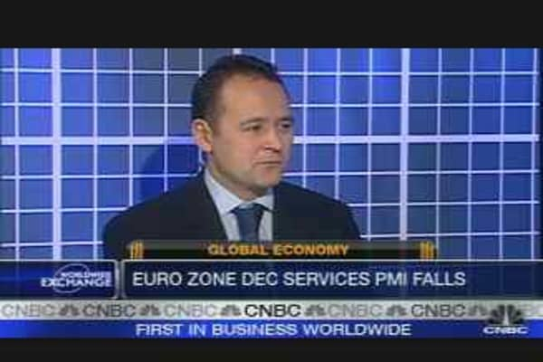 Euro-Zone Service Activity Drops