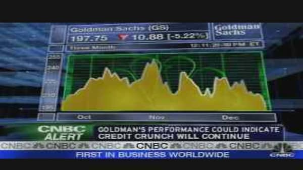 Horrible November for Goldman