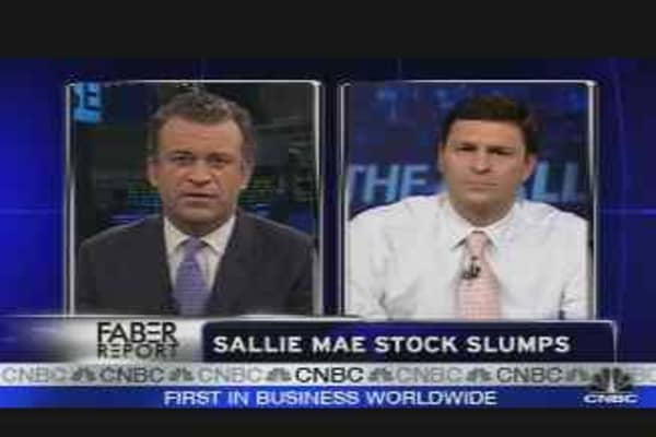 Sallie Mae Stock Down