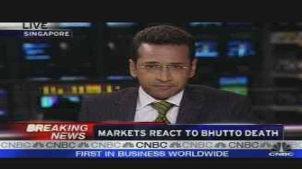 Markets React to Bhutto Death