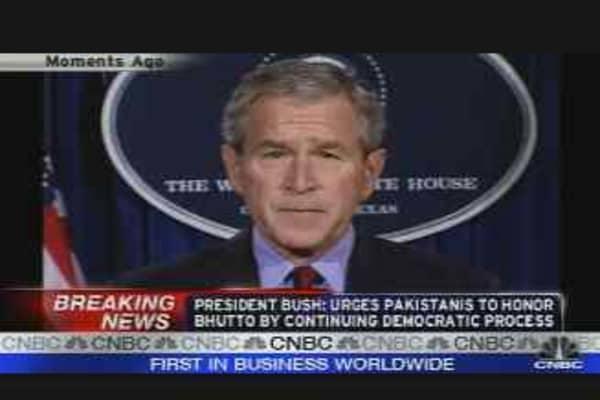 Bush on Bhutto Bombing