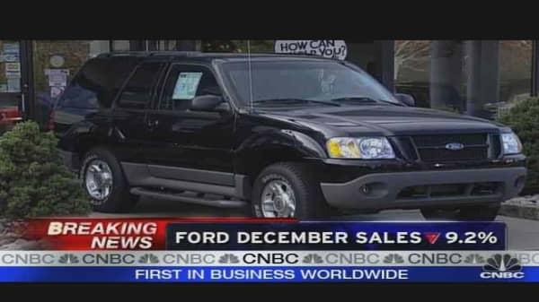 Ford Dec. Sales Down 9.2%