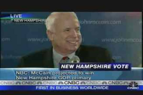 McCain Wins New Hampshire Primary