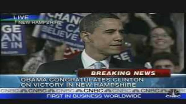 Obama Concedes New Hampshire