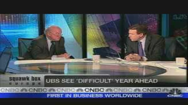 UBS Sees Difficult Year Ahead