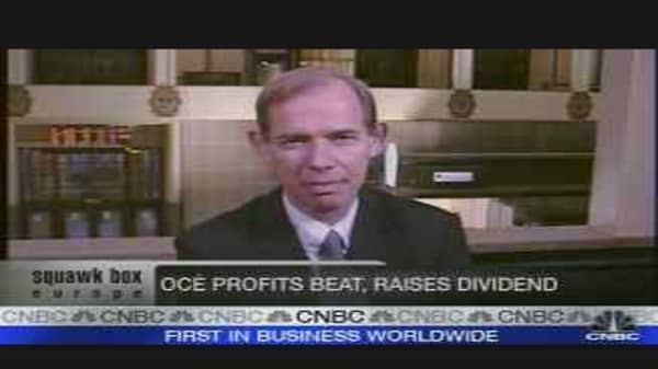 Oce Reports Forecast-Beating Earnings