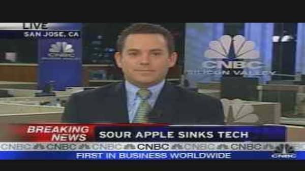 Sour Apple Sinks Tech
