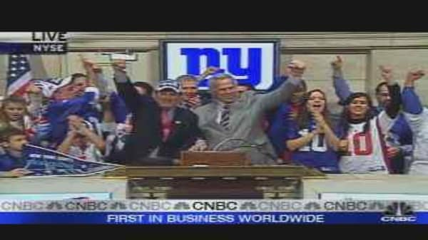 Super Bowl Champs at the NYSE