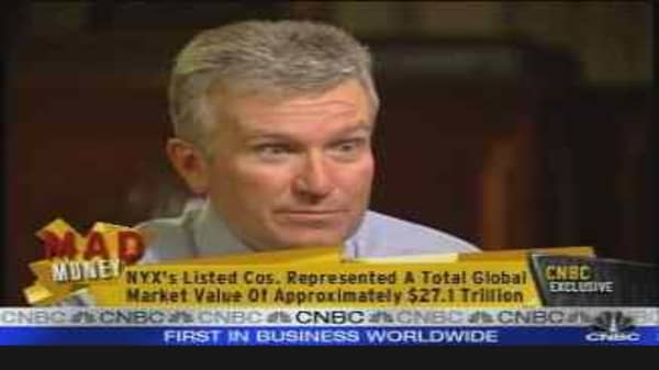Cramer Interviews NYX's Niederauer