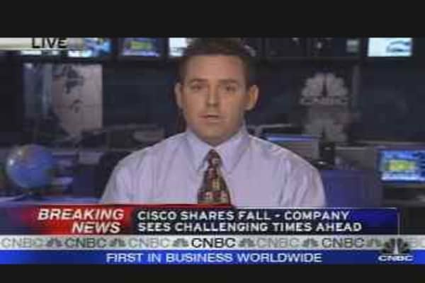 Cisco Shares Fall