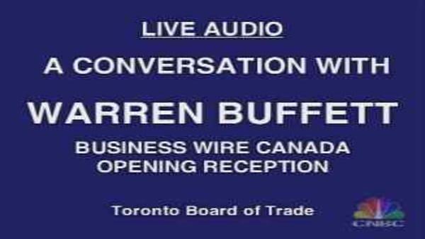 Buffett in Toronto