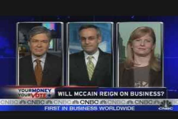 Will McCain Reign on Biz?