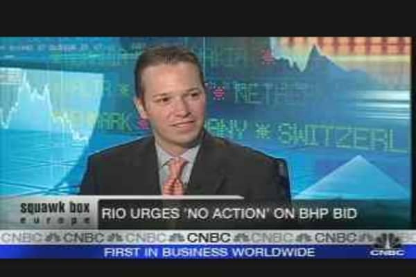 Rio Urges 'No Action' on BHP Bid