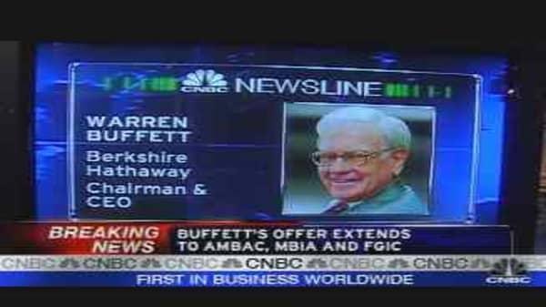 Buffett on Bond Insurers