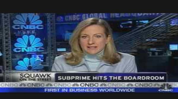 Subprime Hits the Boardroom