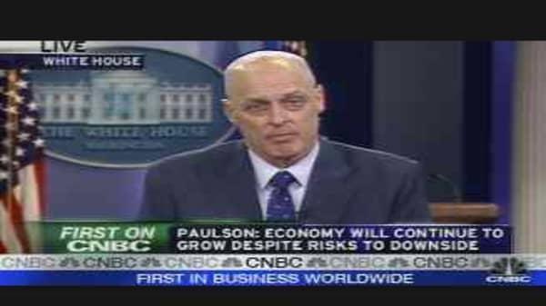 Paulson on the Stimulus Plan