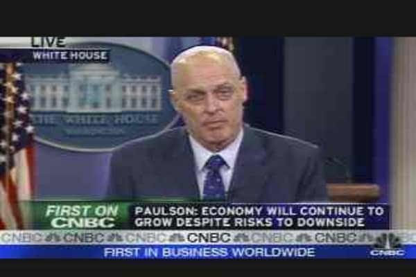 Paulson on the Stimulus Plan