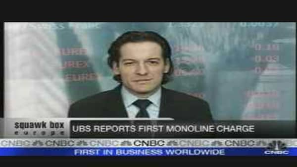 UBS Shares Sink on Subprime