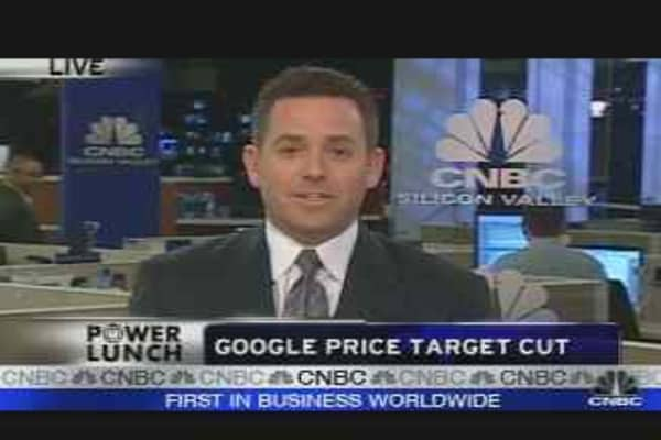 Google Shares Taking a Hit