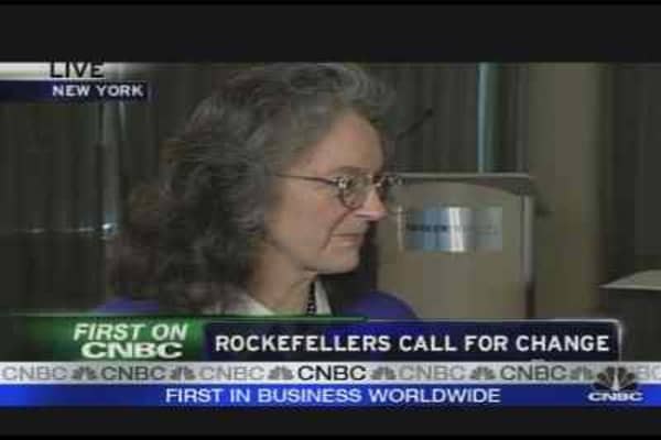Rockefellers Call for Change