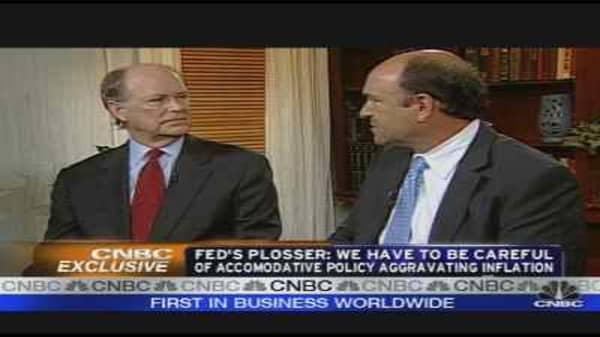 Fed's Plosser on the Economy