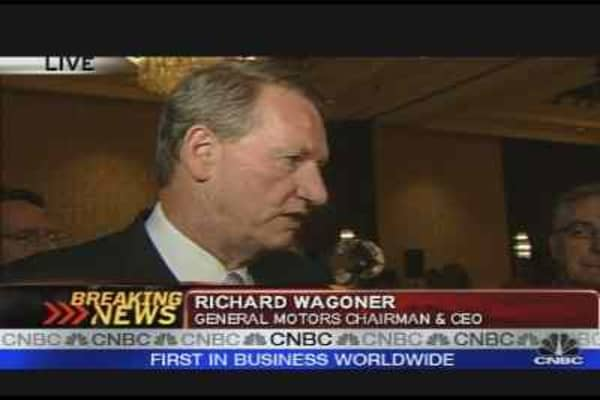 GM's Wagoner on Stock Plunge