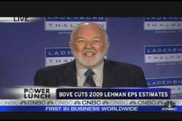 Bove Cuts 2009 Lehman EPS Estimates
