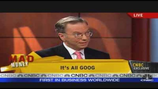 Eric Schmidt on Google, Pt. 1