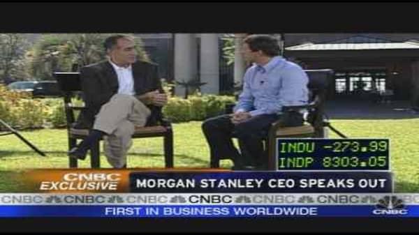 Morgan Stanley CEO Speaks Out