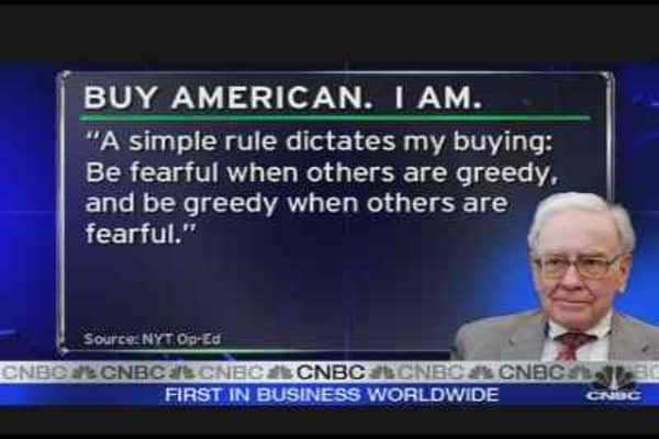 Buffett Says Buy American Stocks