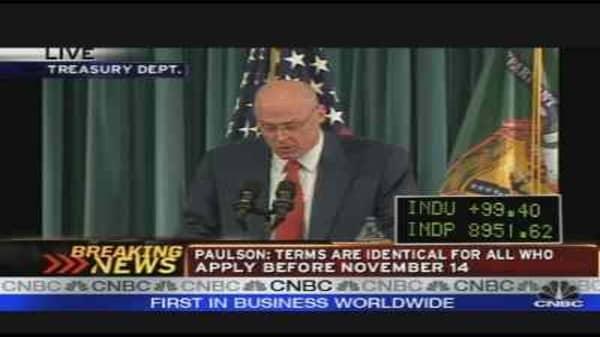 Paulson's Capital Purchase Plan