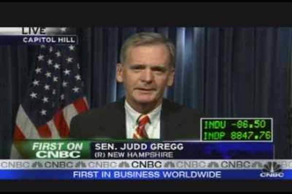 Sen. Gregg on the Auto Bailout