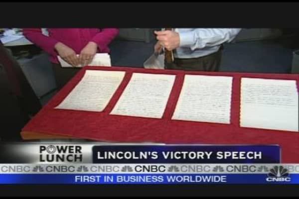 Selling Lincoln's Speech