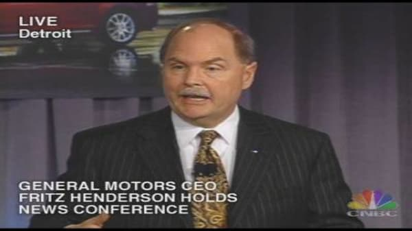 GM CEO Outlines Strategy