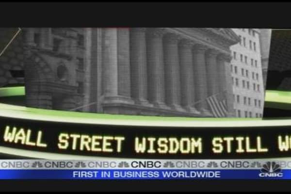 Believing In Ol' Wall Street Wisdom