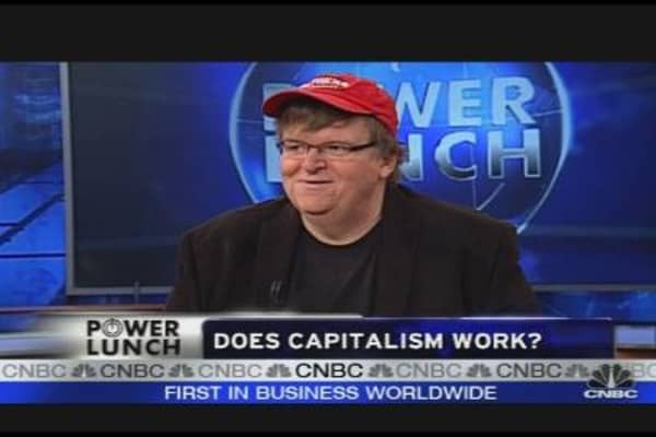 Michael Moore Takes on Capitalism
