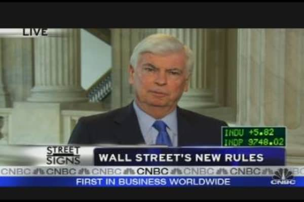 Dodd on Wall St.'s New Rules
