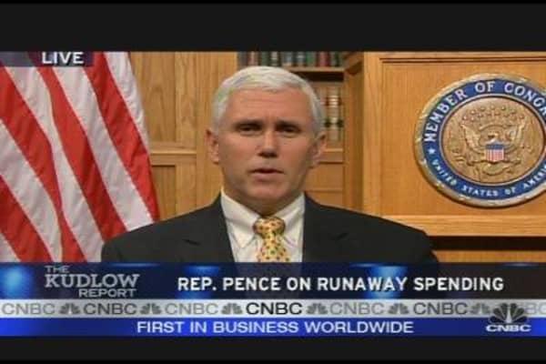 Rep. Pence on Runaway Spending