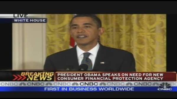 President Obama on Financial Reg Reform