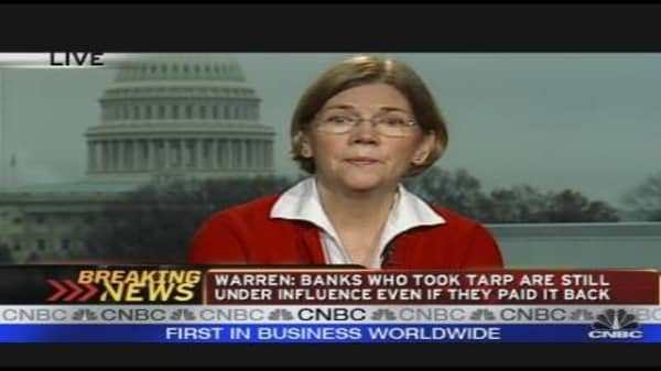 Elizabeth Warren on TARP Achievements
