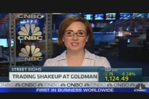 Trading Shakeup at Goldman