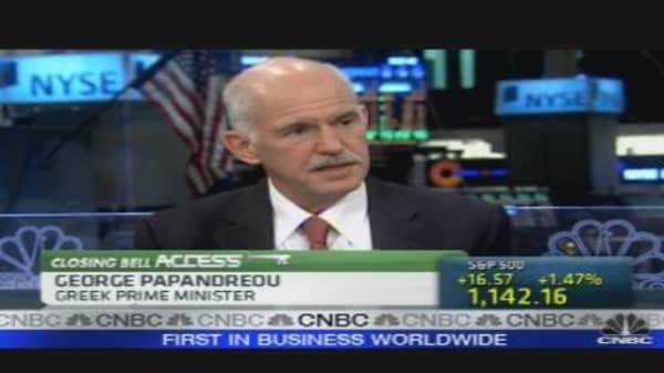 Papandreou on Greece's Financial System
