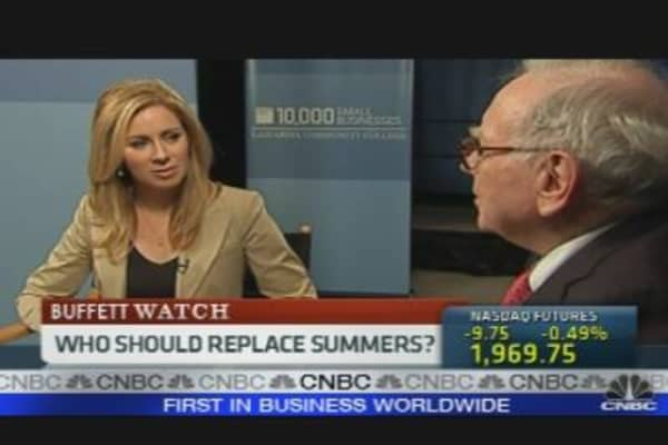 Buffett On Summers, Taxes