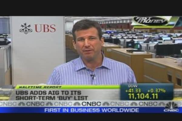 UBS Adds AIG to Short-Term Buy List