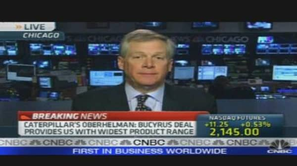 Caterpillar CEO on Bucyrus Deal