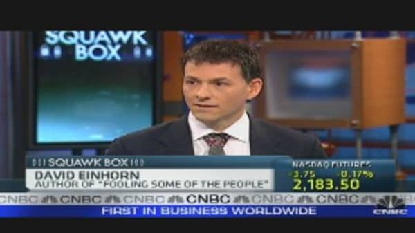 Einhorn: Low Rates