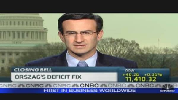 Orszag's Cure for the Deficit