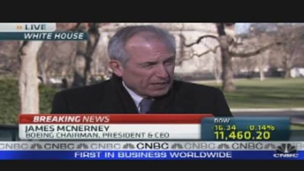 Boeing CEO on Meeting With Obama