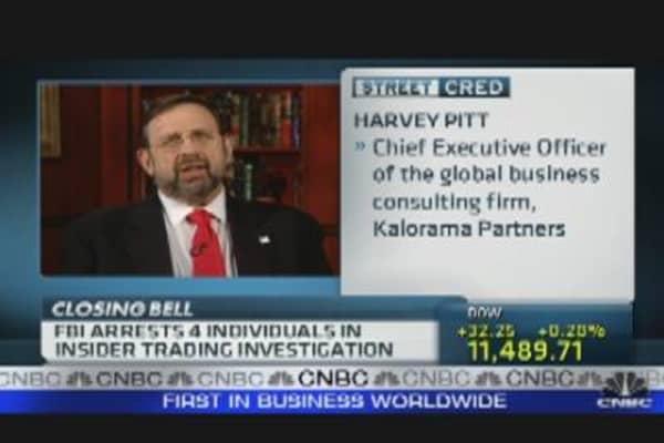 FBI Arrests Four in Insider Trading Investigation